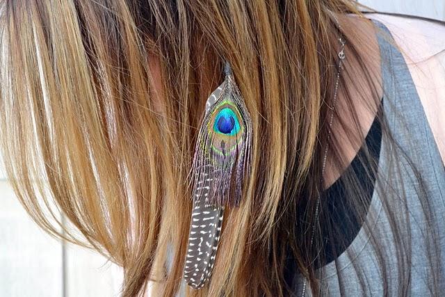 Feather extension headband