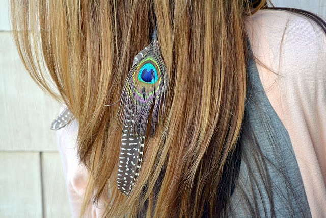 Feather extension headband