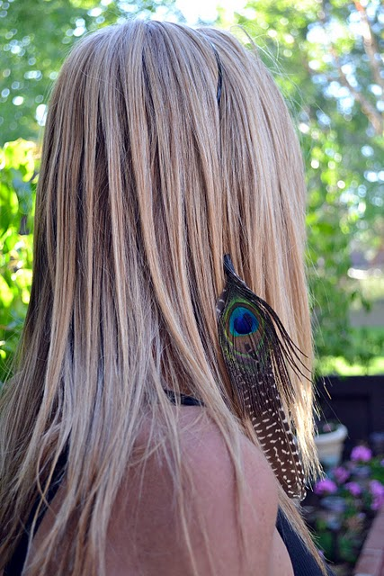 How to make a feather extension headband