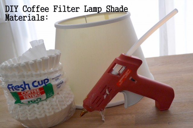 Coffee filter lamp shade supplies