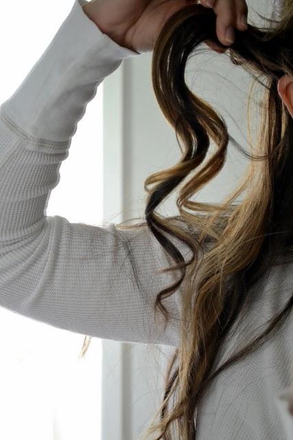 Run fingers through curl