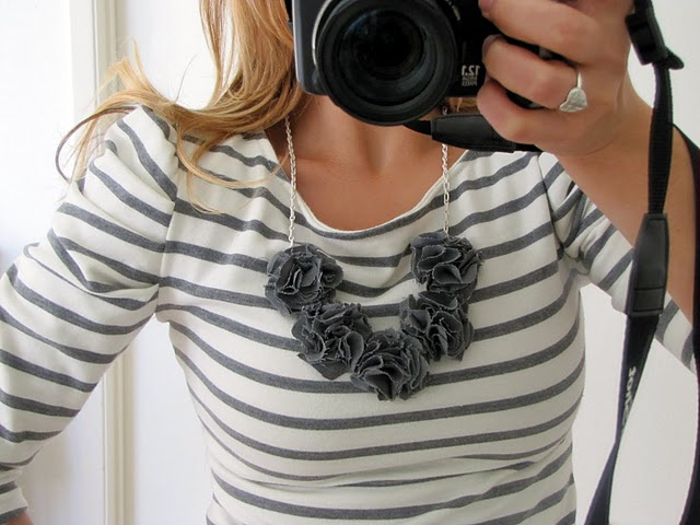 Pom Pom bib necklace