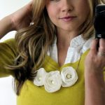 Anthropologie Lace Flower Necklace DIY