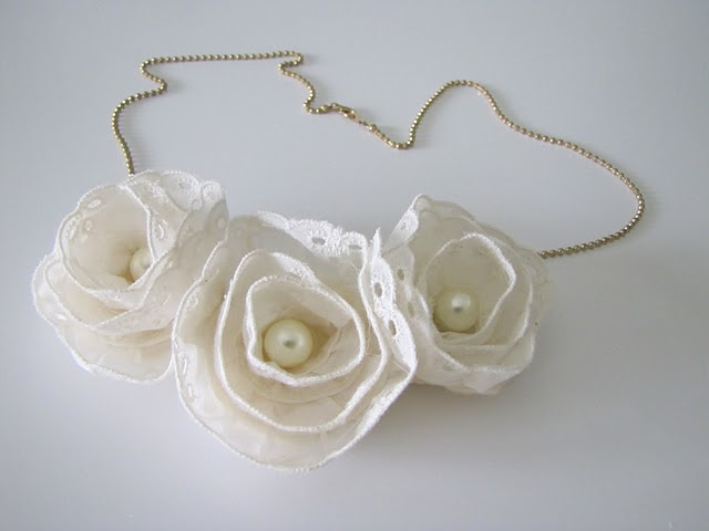crafty jewelry: anthropologie lace flower necklace