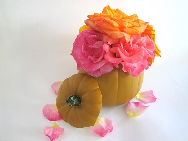 Halloween Crafts Pumpkin Vase Flower Arrangement Tutorial