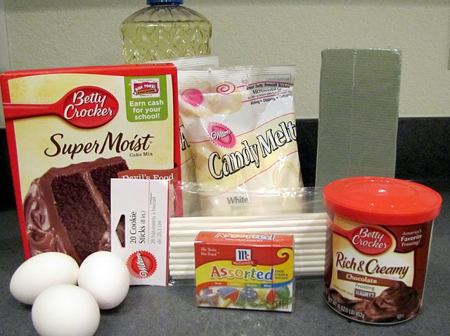 Cake pop ingredients
