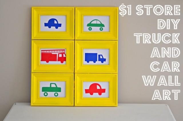 Dollar Store DIY Boys Room Wall Art