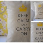 keep calm and carry on gray and yellow