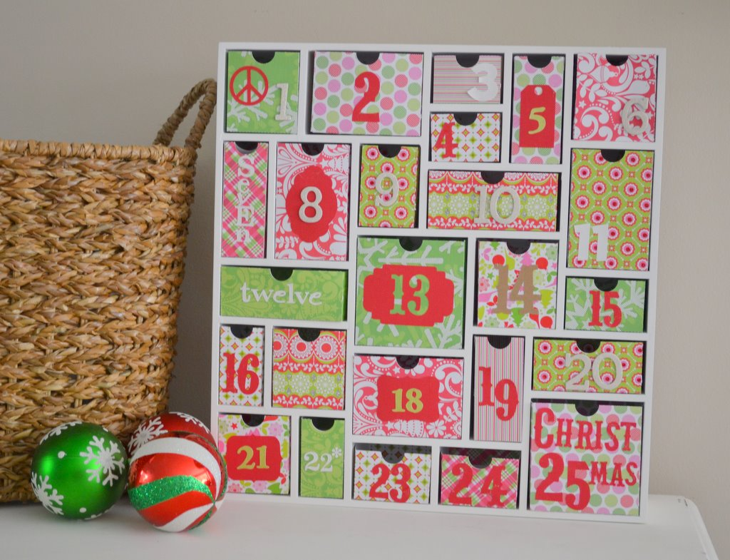 Advent Calendar House Diy : Little miss momma
