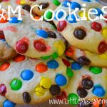 M&M sugar cookie recipe