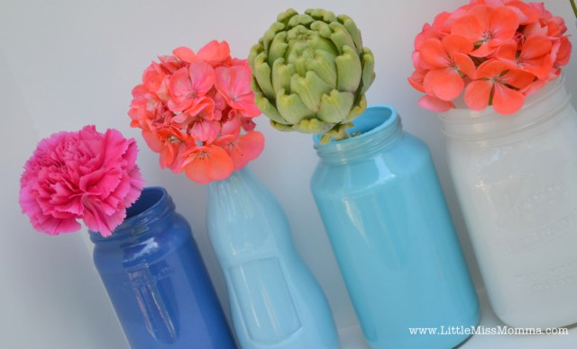 DIY Painted Mason Jar Vases - Crafts, DIY, Home Decor, Party Ideas on pa flower, sc flower, mn flower, dz flower, va flower, uk flower, ls flower, sd flower, ca flower, na flower, ve flower, vi flower,