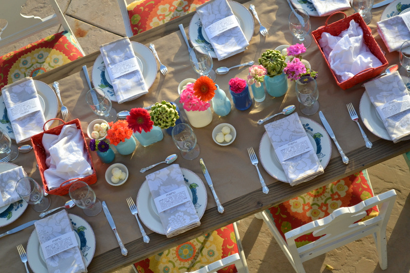 Ladies Dinner Party Ideas Part - 19: Summer Dinner Party Tablescape