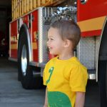 fire truck and toddler
