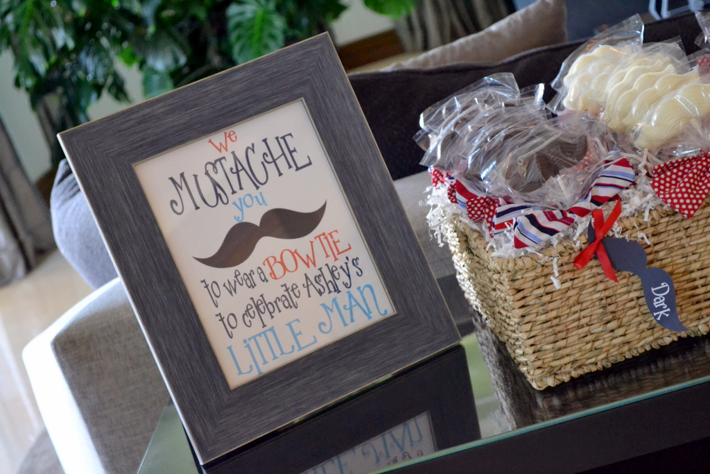 mustache baby shower decor ideas