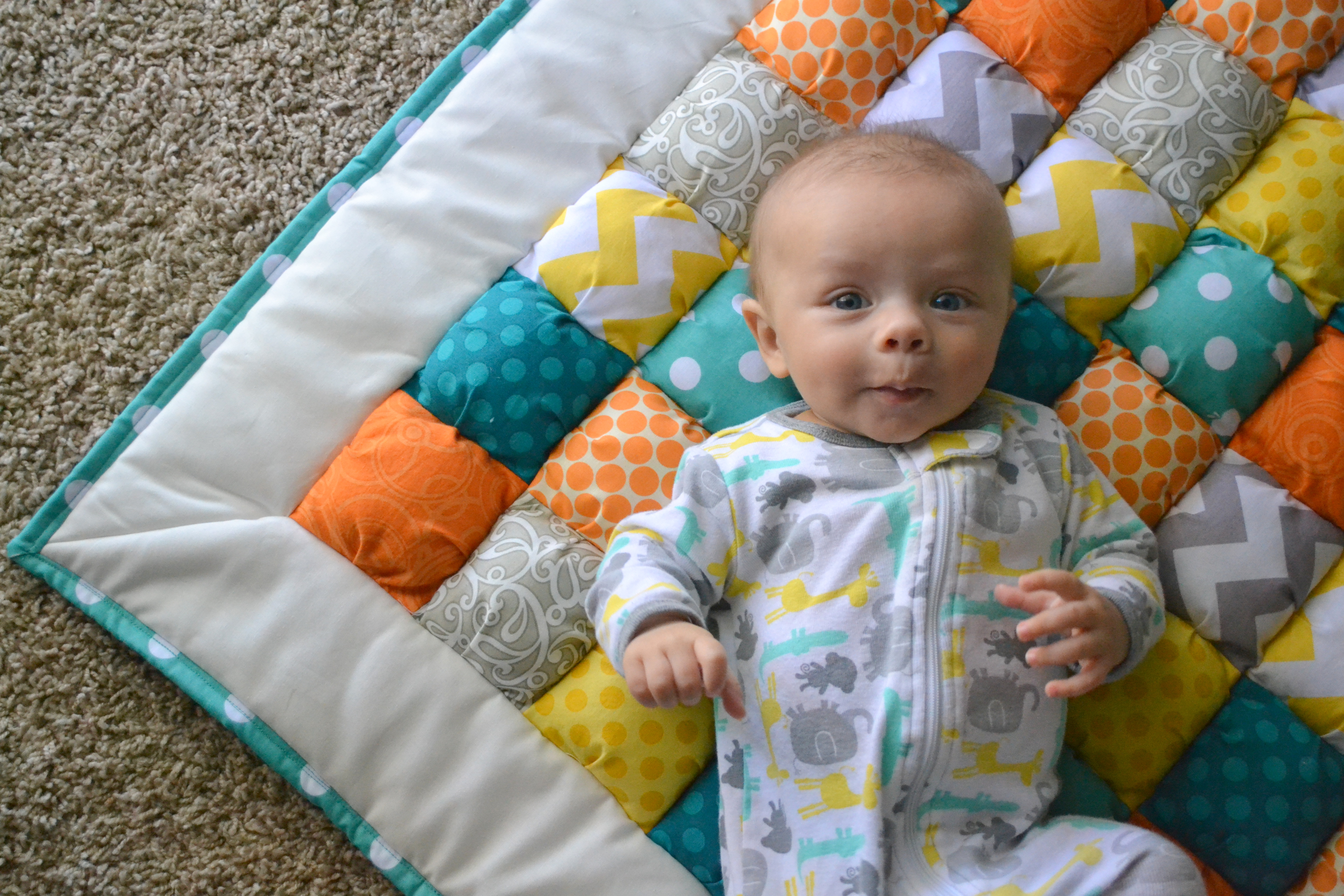 Free Pattern For Baby Puff Quilt : - Little Miss Momma