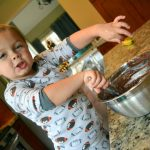 wesley baking cookies