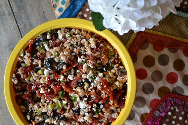 Farro With Feta Cucumbers And Sun-dried Tomatoes Recipes ...