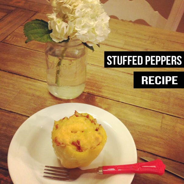 Stuffed peppers recipe title