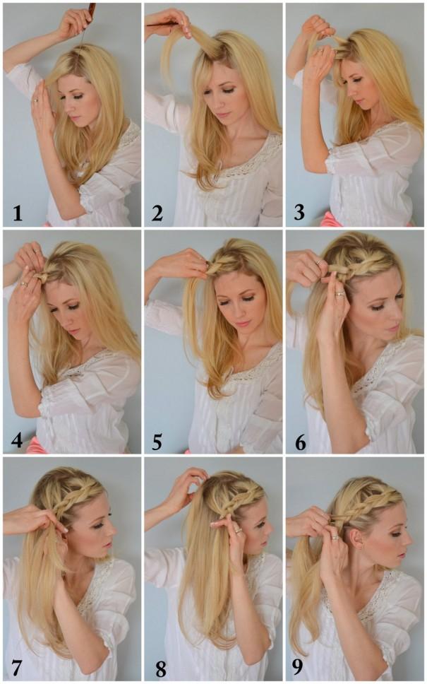1-Crown Braid Tutorial Selection