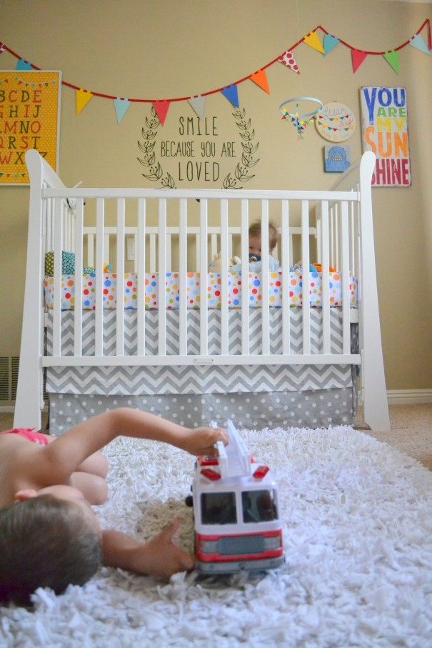 colorful nursery decor