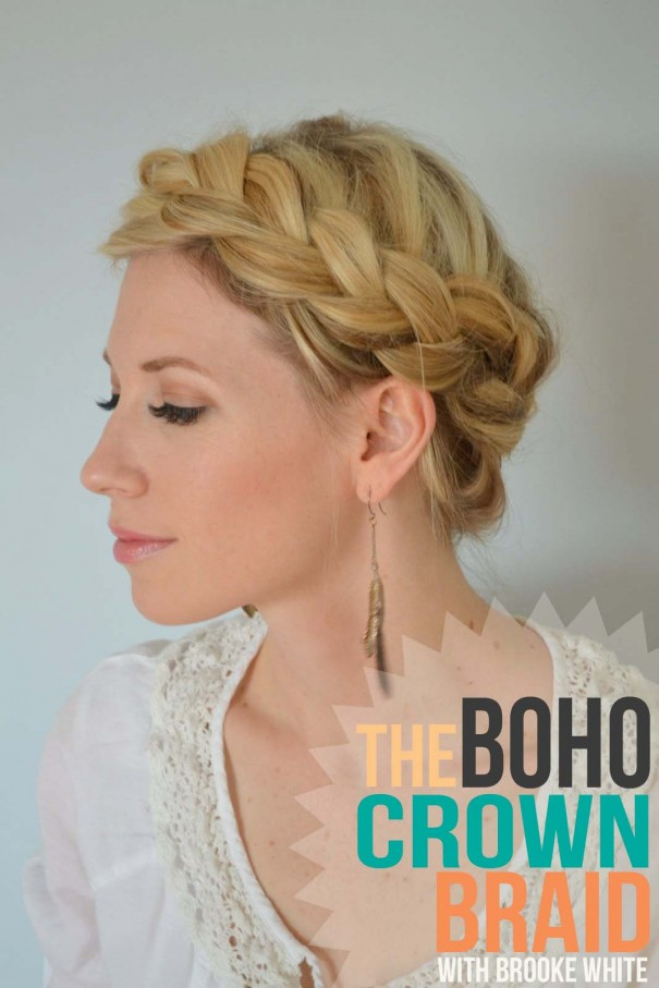 Phenomenal The Boho Crown Braid Tutorial Little Miss Momma Hairstyles For Men Maxibearus