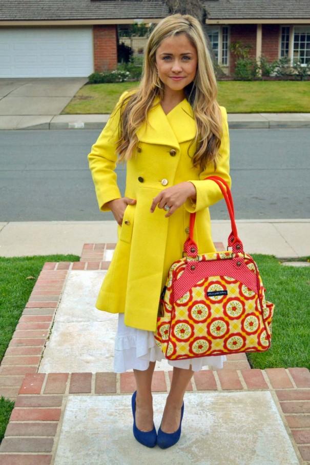 sashay satchel in marigold medallions