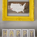 Typography Mantel Art (using lemons)