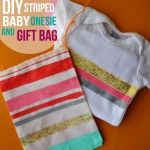 DIY Striped Baby Gift