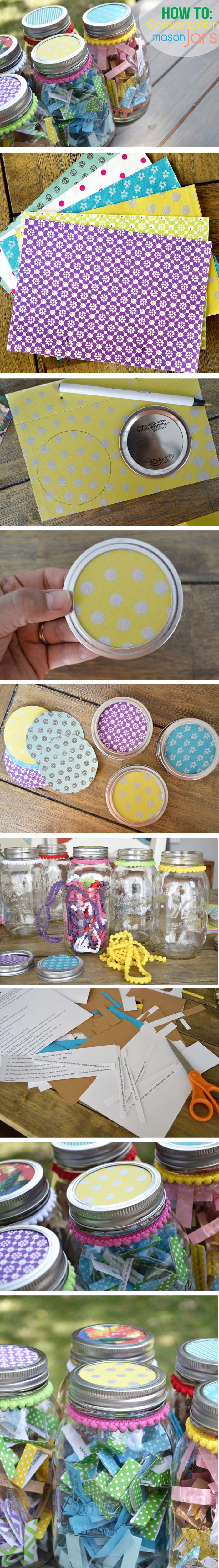 how to make conversation jars collage