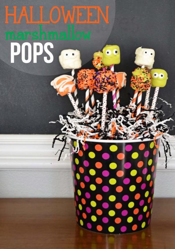 Halloween Marshmallow Pops Title