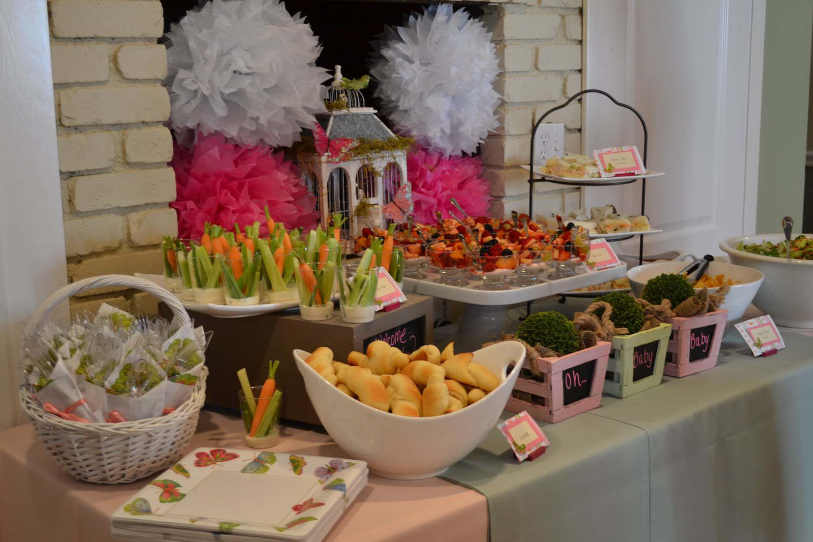 menu ideas for baby shower luncheon