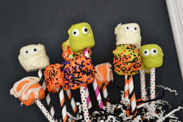 candy covered marshmallow pops