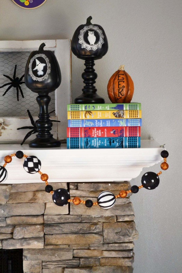 halloween fireplace decor
