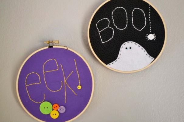 halloween hoop art craft