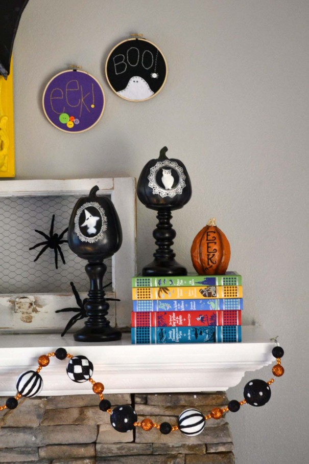 haloween hoop art decor
