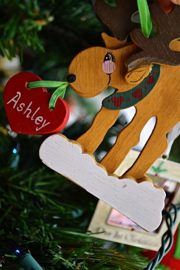 ashley deer ornament