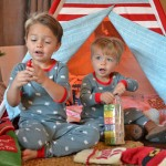 boys presents teepee