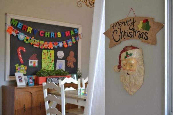 burlap merry christmas banner