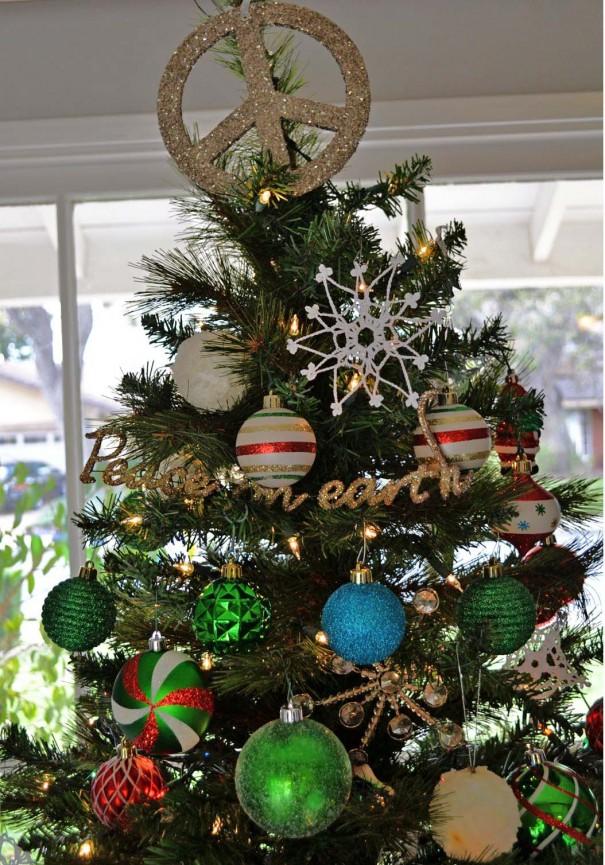 peace christmas tree