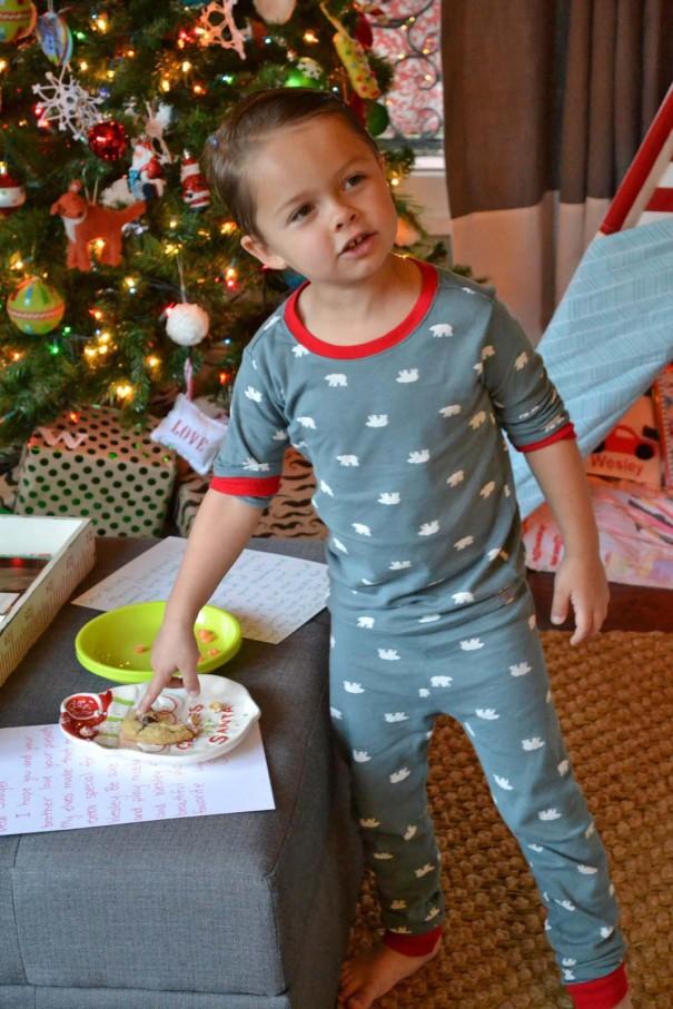 santa note and cookies