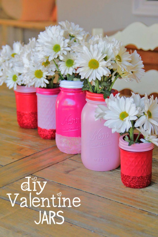 diy glitter mason jar project title