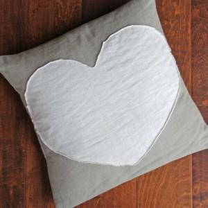 heart envelope pillow