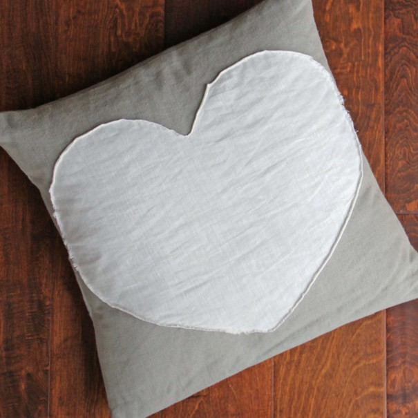 heart envelope pillow