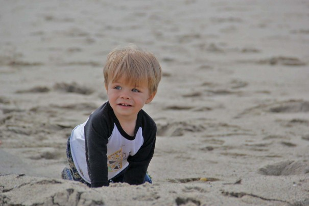 sawyer at beach 2