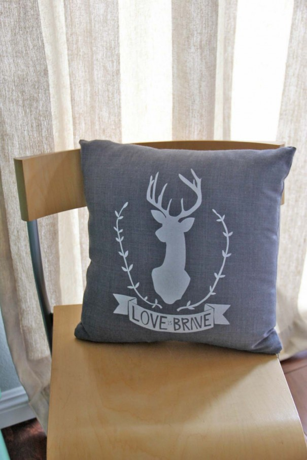 Love is brave pillow