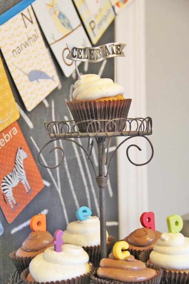 alphabet cupcake toppers