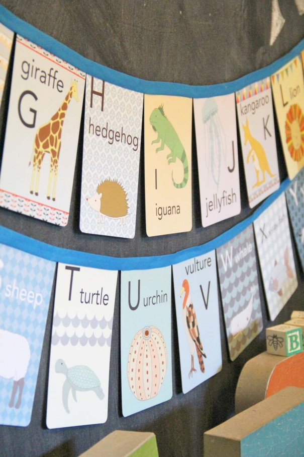 flashcard alphabet banner