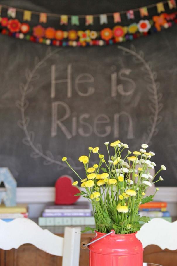 he has risen chalkboard