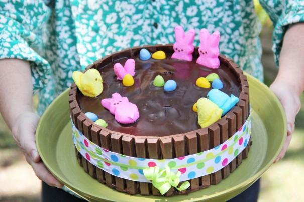 peeps hot tub cake
