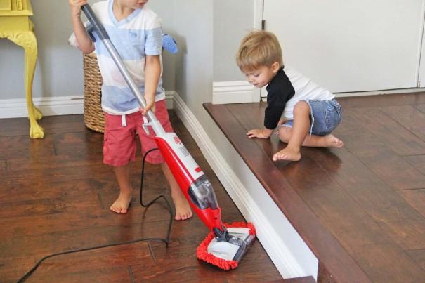 wes teaching sawyer to vacuum